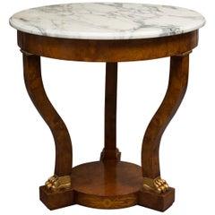 Empire Style Walnut Circular Table
