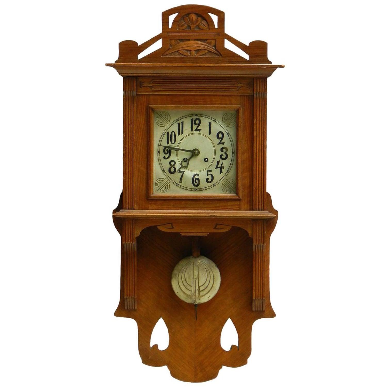 German clocks 192 for sale at 1stdibs arts amp crafts wall clock german art nouveau circa 1900 1910 amipublicfo Choice Image