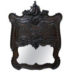 19th Century French Regence Carved Wood Mirror