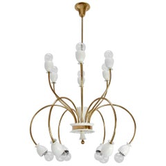Twelve-Light Botanical Chandelier
