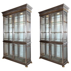 Pair of Display Cabinets by Maison Jansen