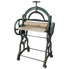 Antique Industrial Laundry Cloth Roller Press