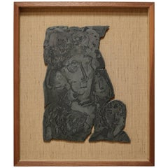 Framed Lead Lithograph Mold