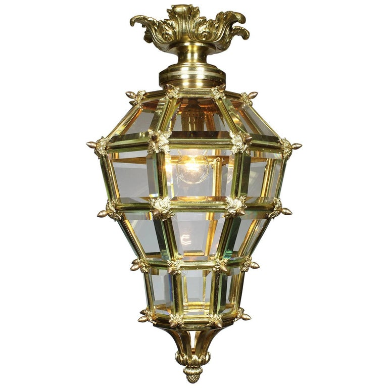 French Louis XIV Style Early 20th Century Gilt Bronze Versailles Style Lantern