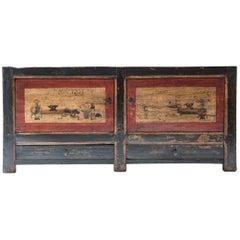 Mongolian Painted Two-Door Cabinet, c. 1850