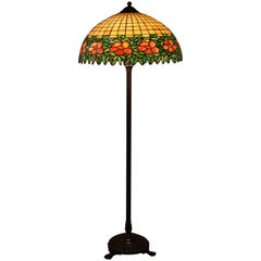 Stained Glass Floor Lamp in Style of Handel