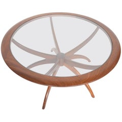 G Plan Mid-Century Modern Spider Coffee Table in Afromosia