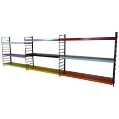 Large Vintage Retro Metal Tomado Shelving Rack
