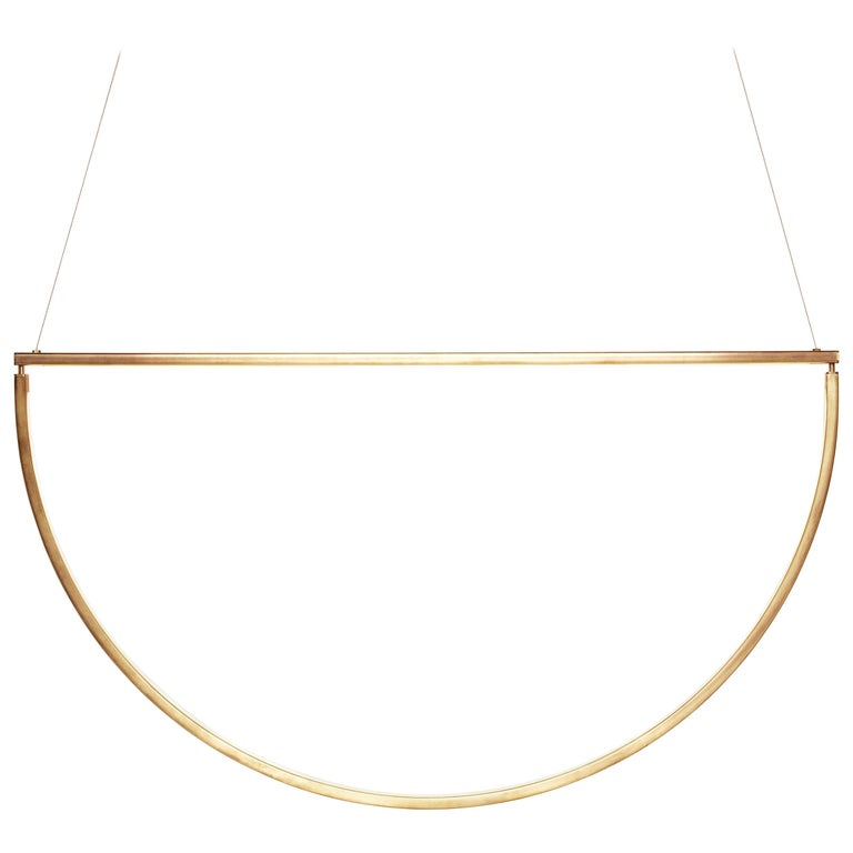 Chord Chandelier in Brass by AlexAllen Studio