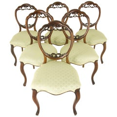 Balloon Back Chairs Antique Mahogany Chairs Six Mahogany Chairs