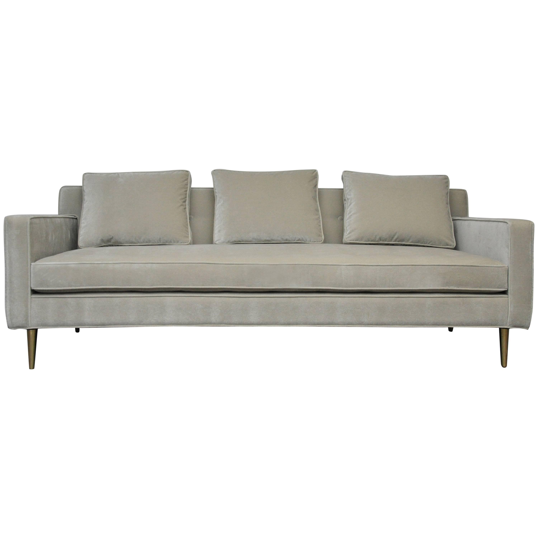Dunbar Sofa by Edward Wormley on Brass Legs