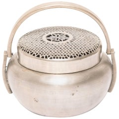 Chinese White Brass Brazier