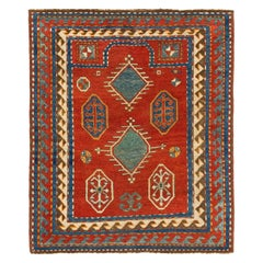 Antique Caucasian Bordjalou Kazak Rug, circa 1880