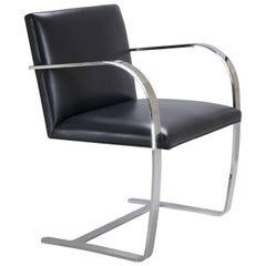 Brno Flat-Bar Chair in Original Navy Leather