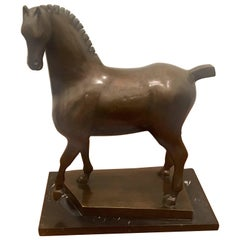 Massive Modernist Bronze Horse by Mexican Artist Heriberto Juarez