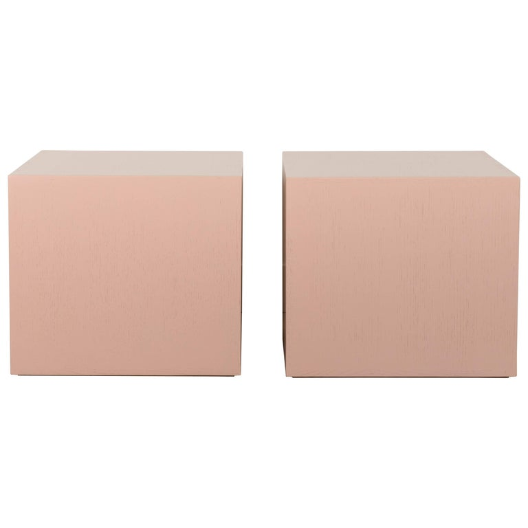 Pair of Cube Side Tables by Lawson-Fenning