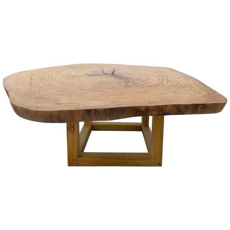Organic Dining Table by Valeria Totti, Reclaimed Wood from the Brazilian Amazon