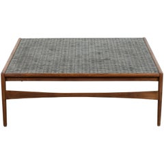 Spanish Walnut and Oxidized Tile Coffee Table