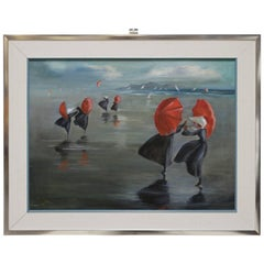 Nuns by the Shore Oil Painting