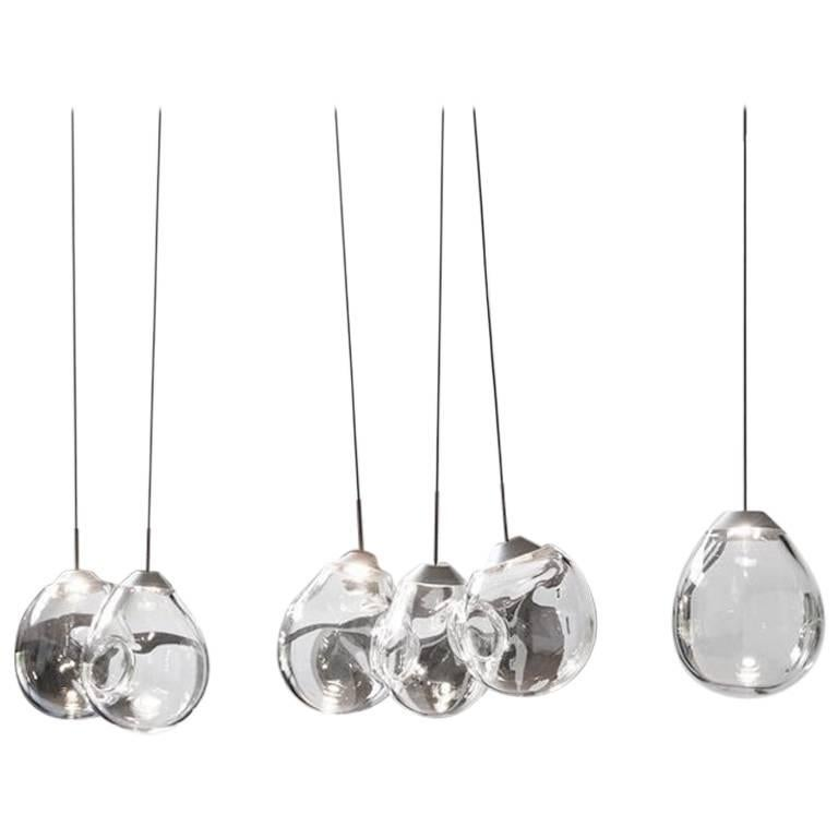 'M...' Blown Glass Pendants by Alex de Witte