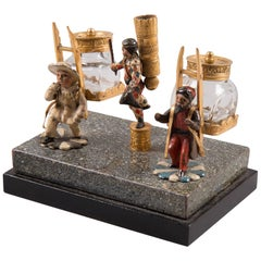 19th Century Viennese Inkstand with Three Figures