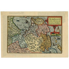 Antique Map of Friesland 'The Netherlands' by J. Bussemacher, 1596