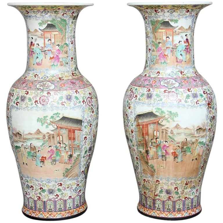 Pair of Chinese Floor Vases