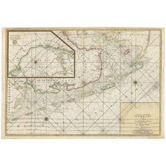 Antique Sea Chart of the Zuyder Zee 'The Netherlands' by H. van Loon, 1773