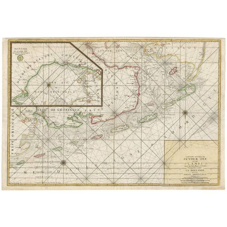 Antique Sea Chart of the Zuyder Zee 'The Netherlands' by H. van Loon, 1773 For Sale