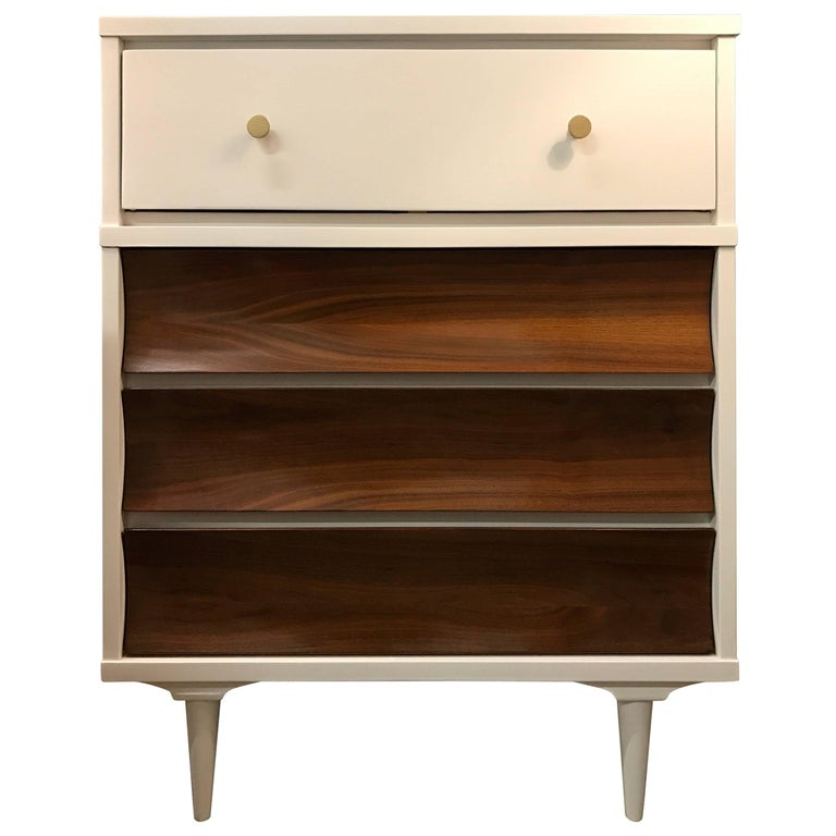 Two-Tone Lacquered Midcentury Chest Dresser