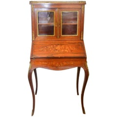19th Century French Rosewood and Marquetry Bureau de Dame in Napoleon III Style