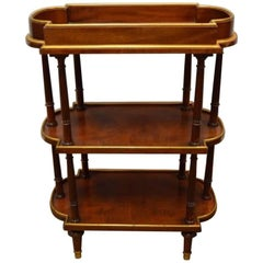 19th Century English Three-Tier Mahogany Serving Cart