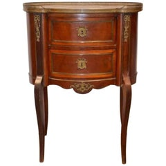 19th Century French Elegant Mahogany Commode with Marble Top