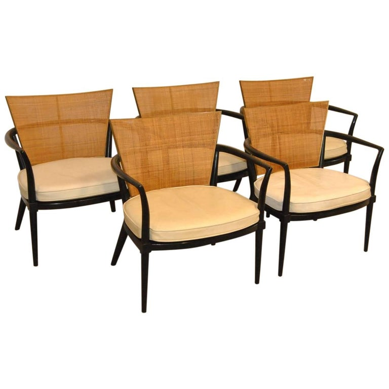 "Set of Five Bert England ""Forward Trend"" for Johnson Furniture Midcentury Chairs"