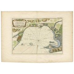 Antique Map of the Petit-Goave Region of Haiti by J.N. Bellin, 1764