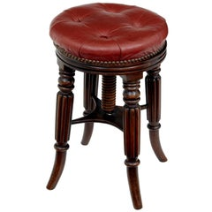 Late 19th Century Mahogany Piano Stool
