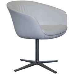 Walter Knoll BOB Contemporary Office Chair White Leather Chrome Frame