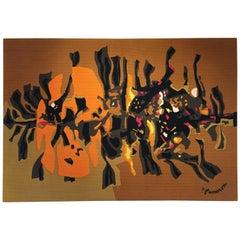 1960s Aubusson Wool Tapestry by René Fumeron
