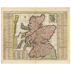 Antique Map of Scotland by H. Chatelain, 1719