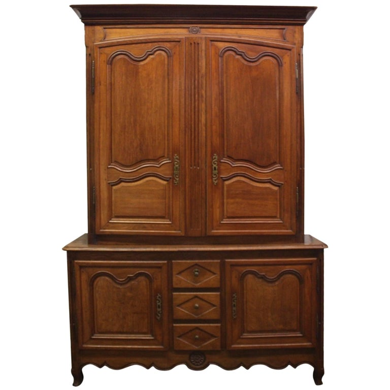 Magnificent Early 19th Century French Cabinet Deux-Corps