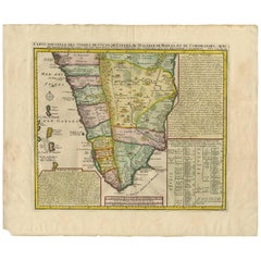 Antique Map of Southern India by H. Chatelain, 1719