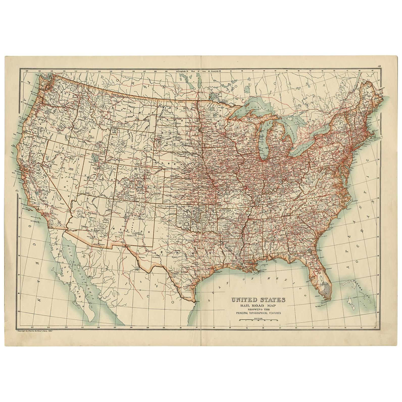 1846 Ensigns Travellers Guide and Map of the United States
