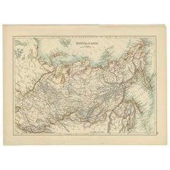 Antique Map of Russia (circa 1900)