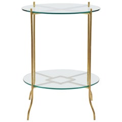 French 1970s Brass Gueridon Table