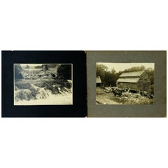 Pair of Photographs, Harold E. Hatch, Danville, VT, Late 19th-Early 20th Century