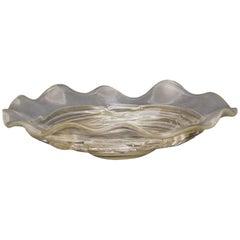 Murano Glass Plate, 1950s, Signed Seguso