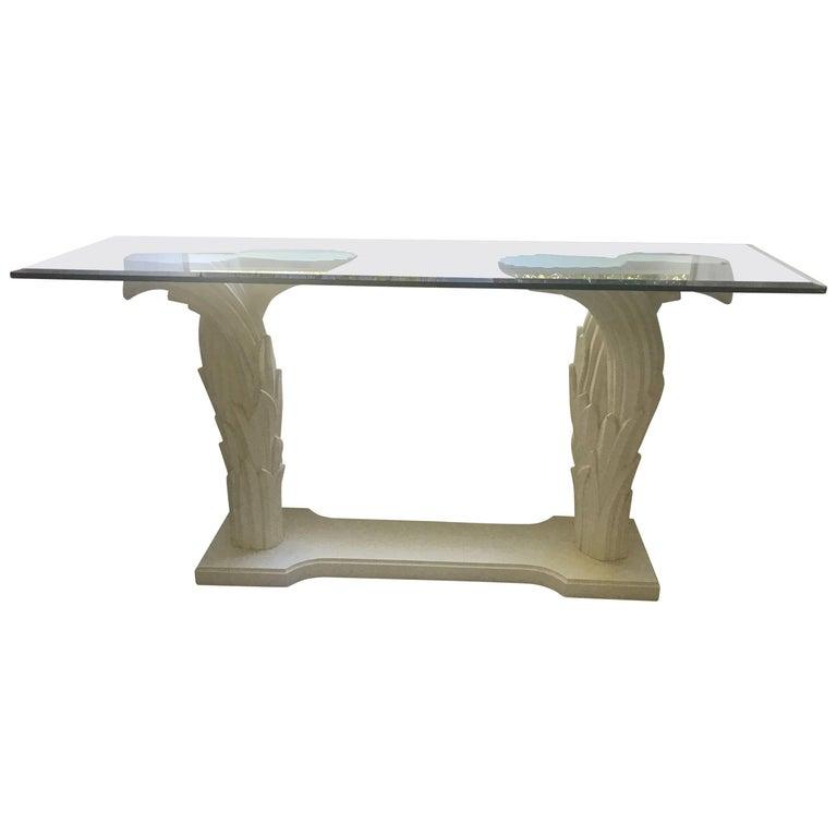 Serge Roche Style Console Table, circa 1970s For Sale