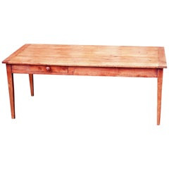 Antique 19th Century French Cherrywood Farmhouse Dining Table