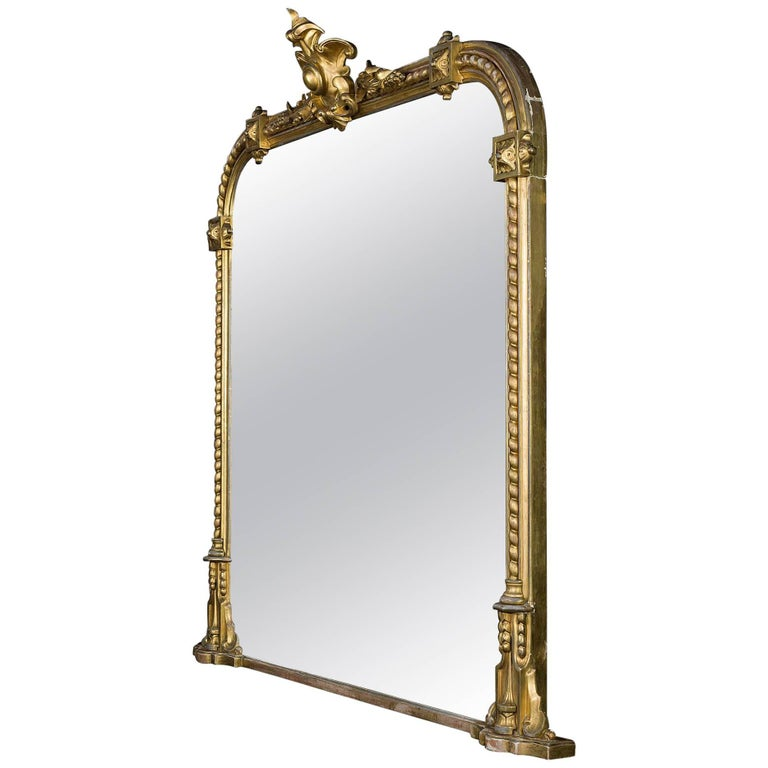 Victorian Giltwood Overmantel Mirror For Sale At 1stdibs