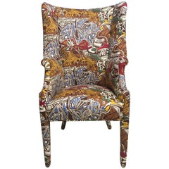 Show Stopper Upholstered Wing Chair with Picasso Theme